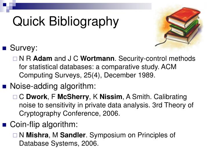 Quick Bibliography