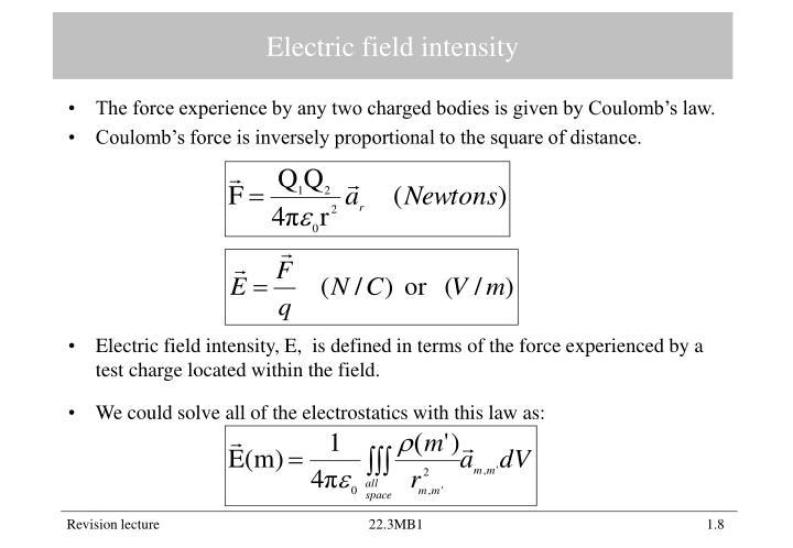 Electric field intensity
