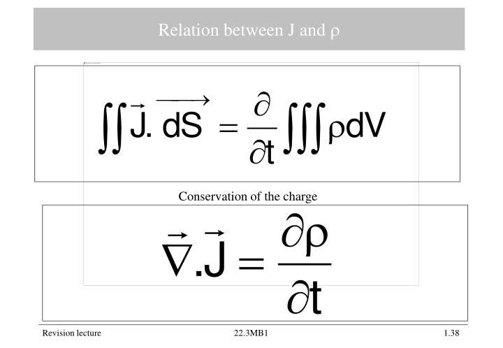 Relation between J and