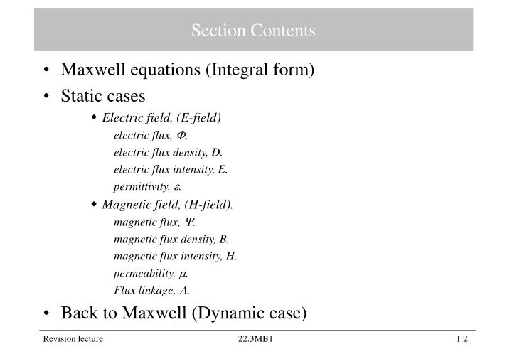 Section Contents