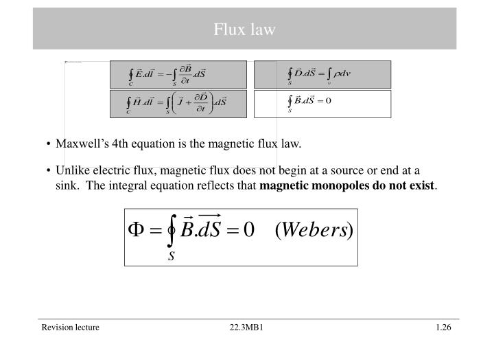 Flux law