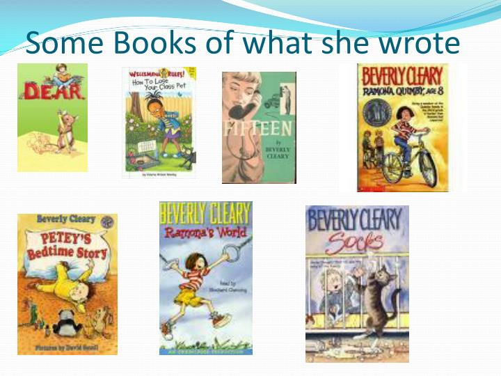 Some Books of what she wrote