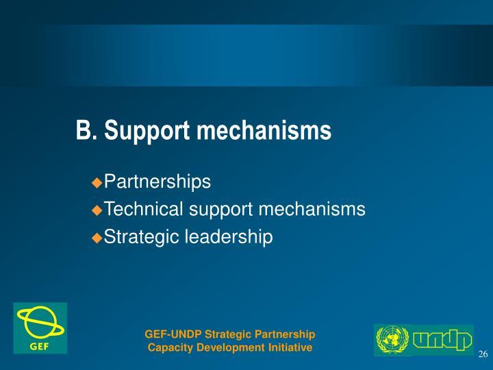 B. Support mechanisms