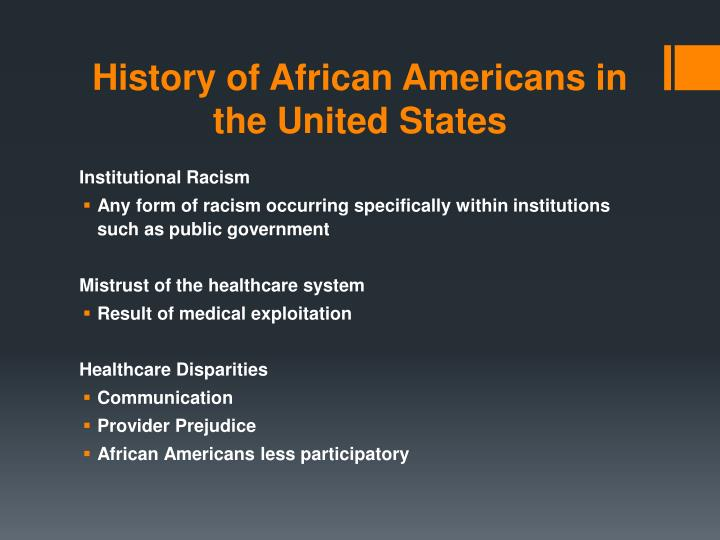 History of african americans in the united states1