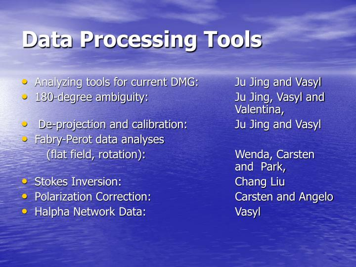 Data processing tools
