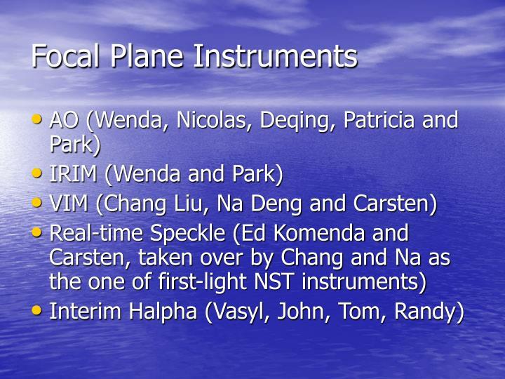 Focal Plane Instruments