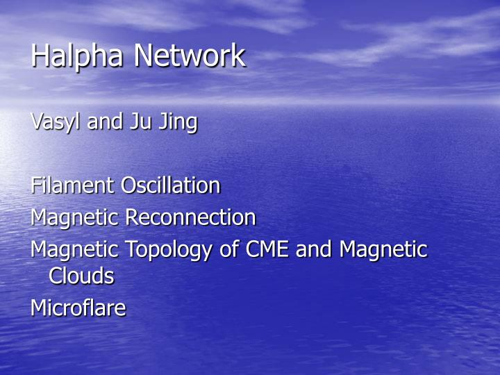 Halpha Network