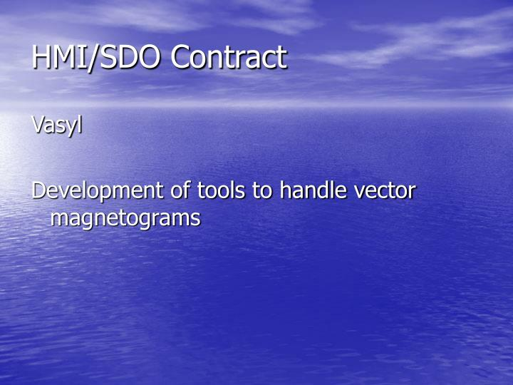 HMI/SDO Contract