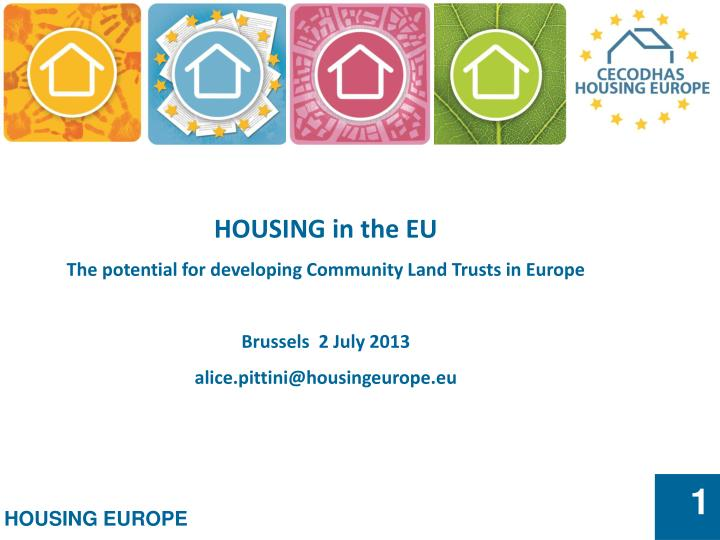 HOUSING in the EU