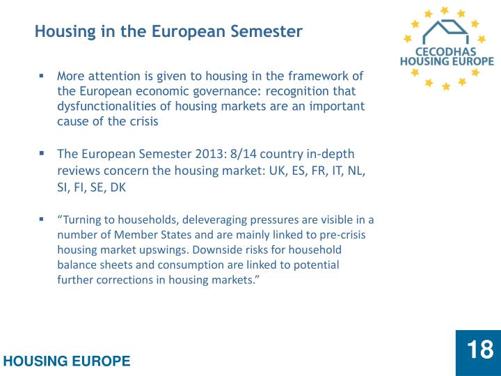 Housing in the European Semester