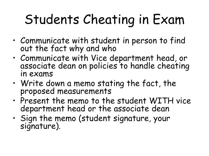 Students Cheating in Exam