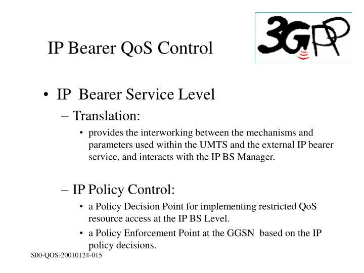 IP Bearer QoS Control