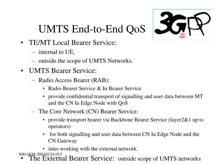 UMTS End-to-End QoS