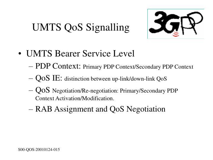 UMTS QoS Signalling