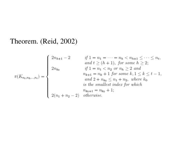 Theorem. (Reid, 2002)