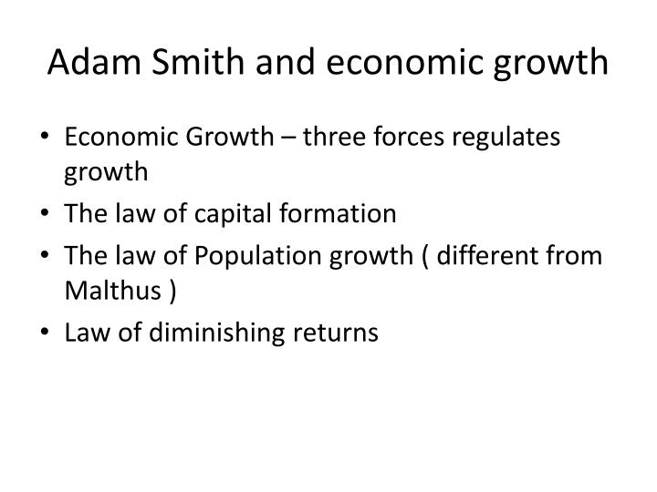 Adam Smith and economic growth
