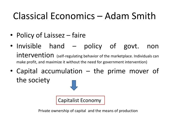 Classical Economics – Adam Smith
