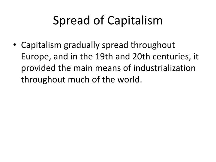 Spread of Capitalism
