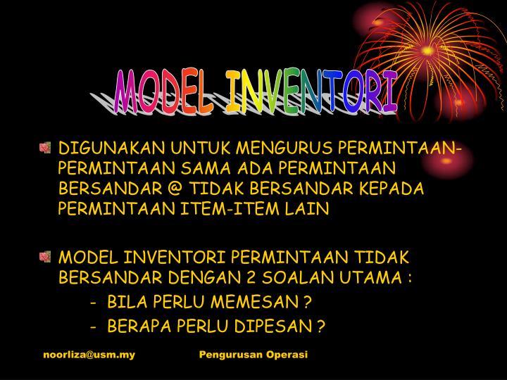 MODEL INVENTORI