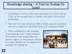 knowledge sharing a tool for scaling up cont
