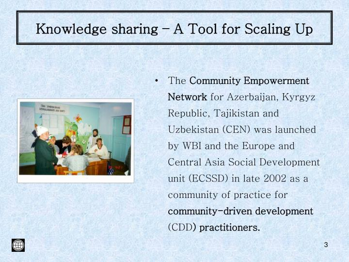 Knowledge sharing – A Tool for Scaling Up