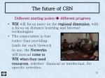 the future of cen