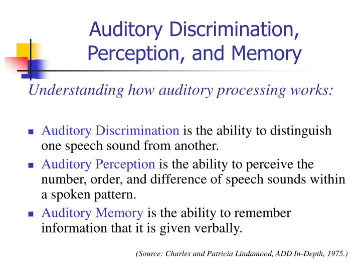 Auditory Discrimination,