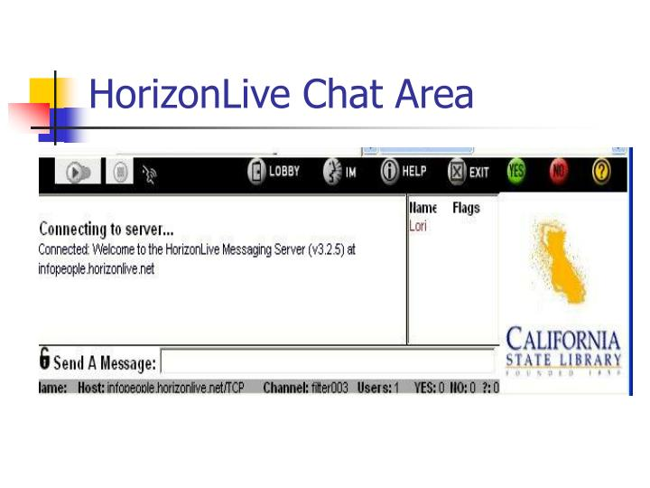 HorizonLive Chat Area
