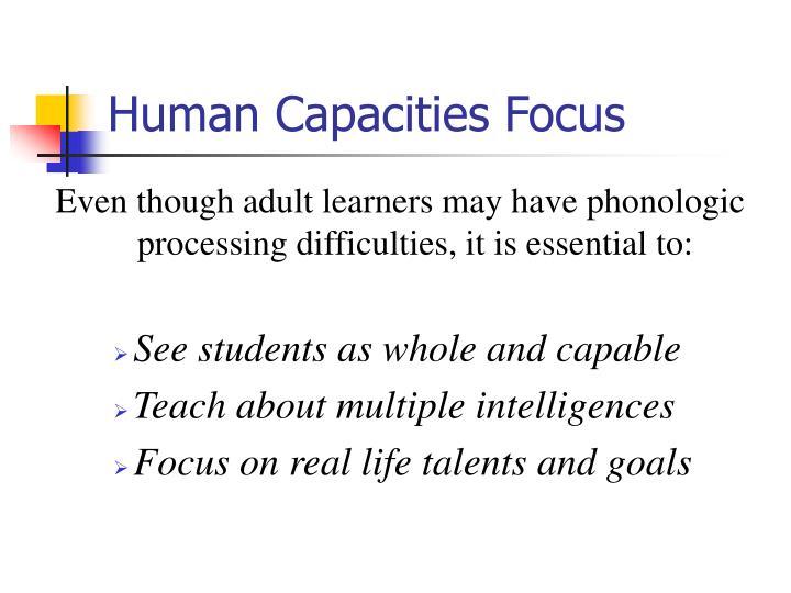 Human Capacities Focus