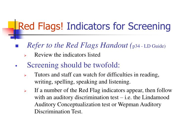 Red Flags!