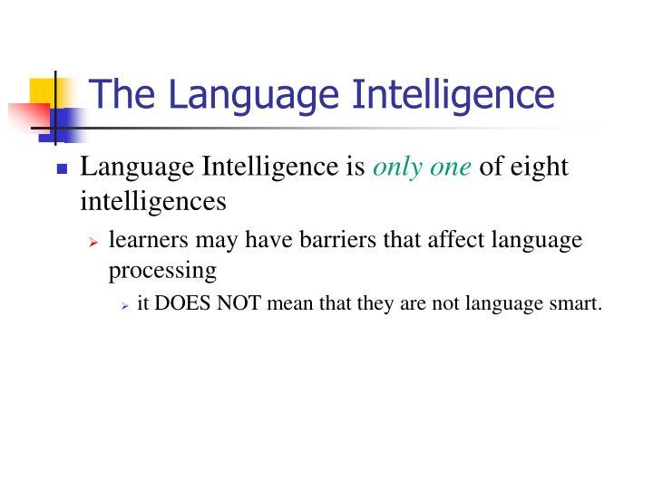 The Language Intelligence