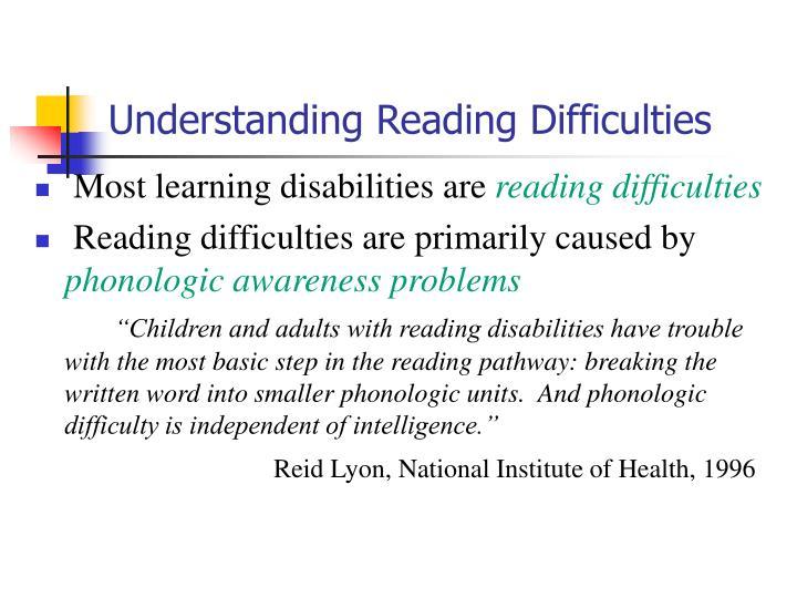 Understanding Reading Difficulties
