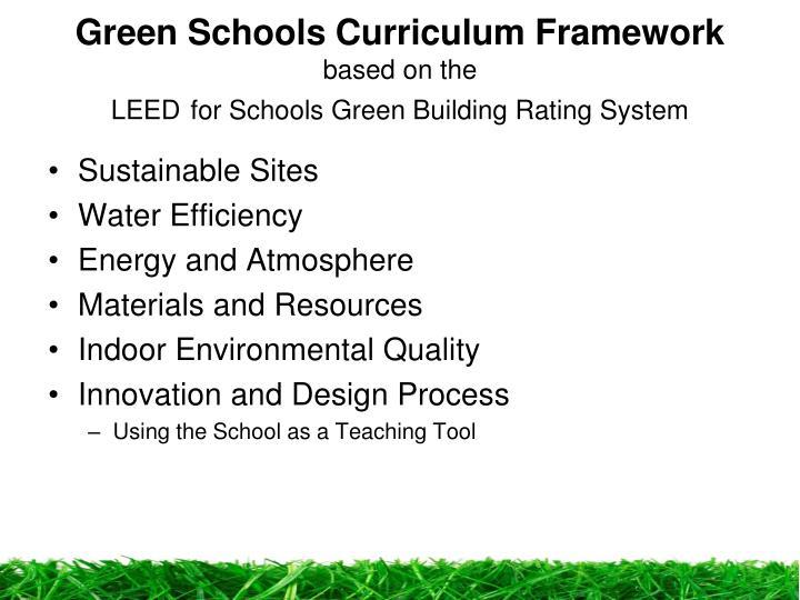 Green Schools Curriculum Framework