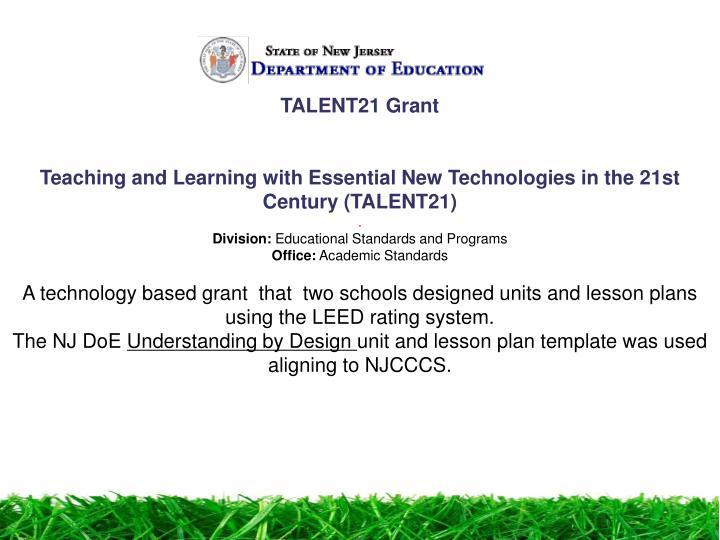 TALENT21 Grant