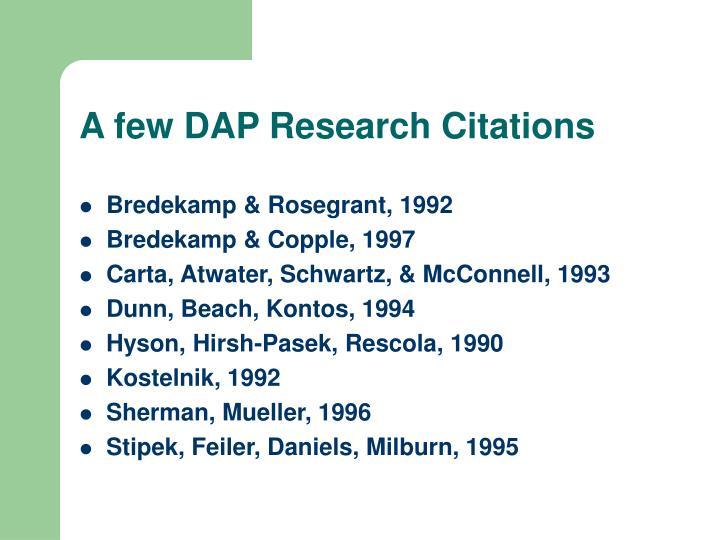 A few DAP Research Citations