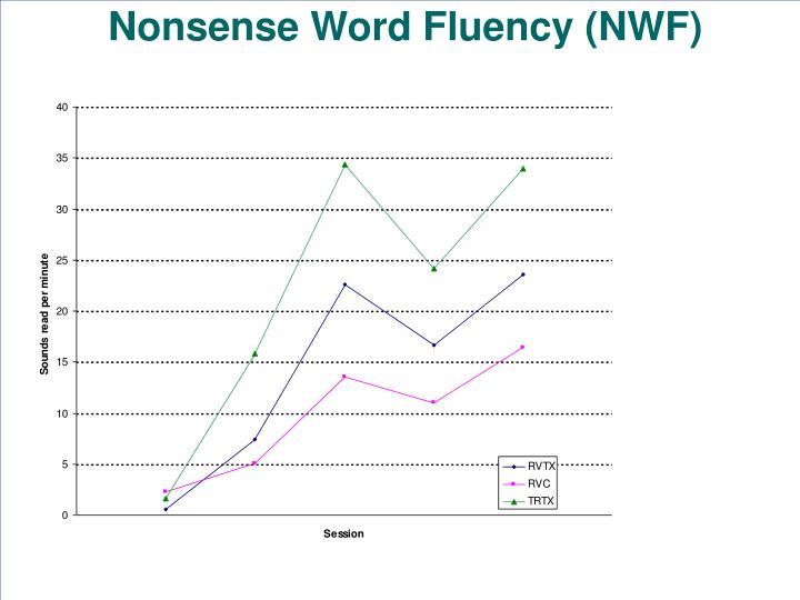 Nonsense Word Fluency (NWF)