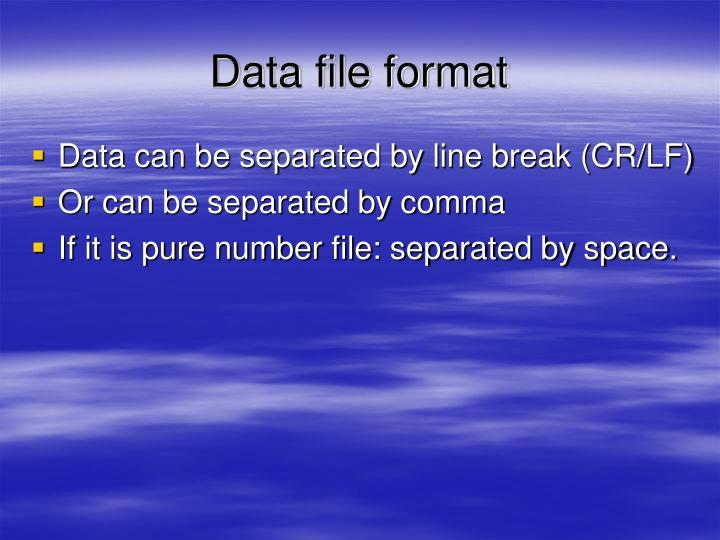 Data file format