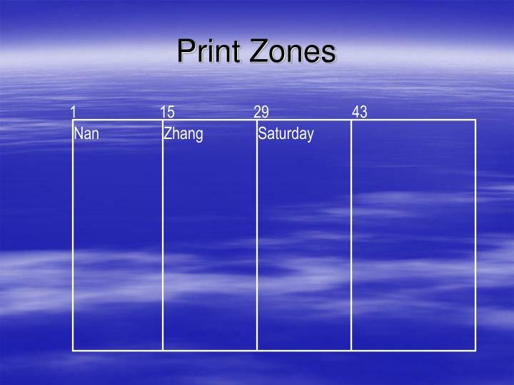 Print Zones