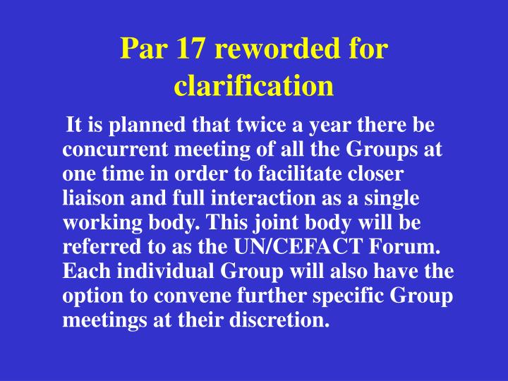 Par 17 reworded for clarification