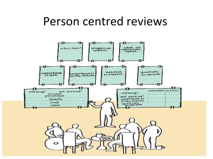 Person centred reviews
