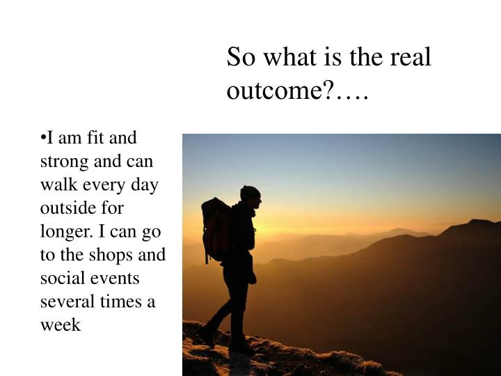So what is the real outcome?….