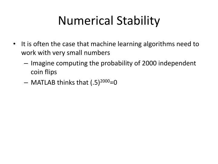 Numerical Stability