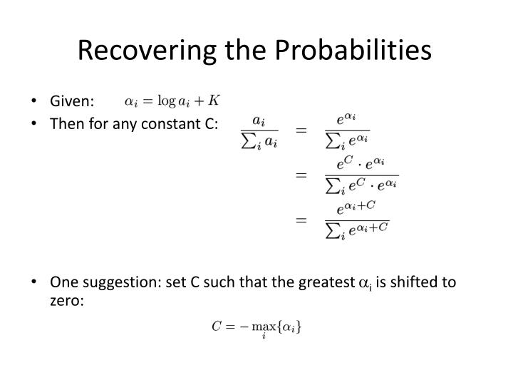 Recovering the Probabilities