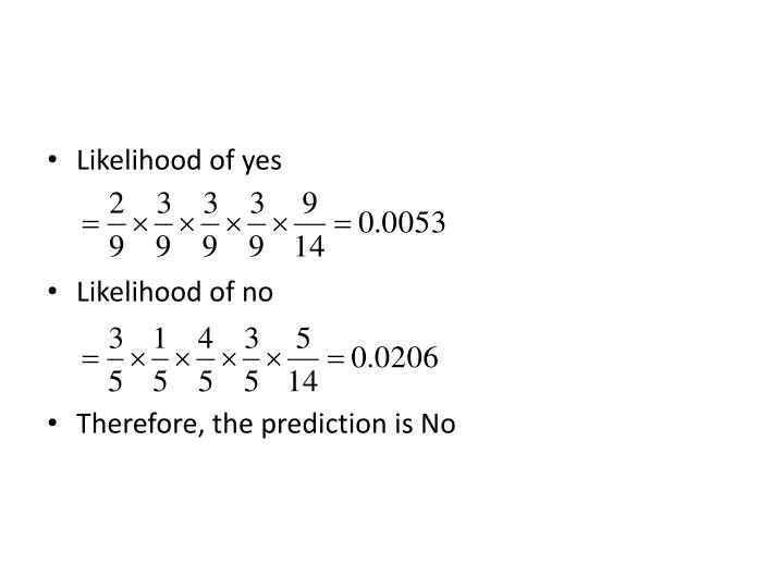 Likelihood of yes