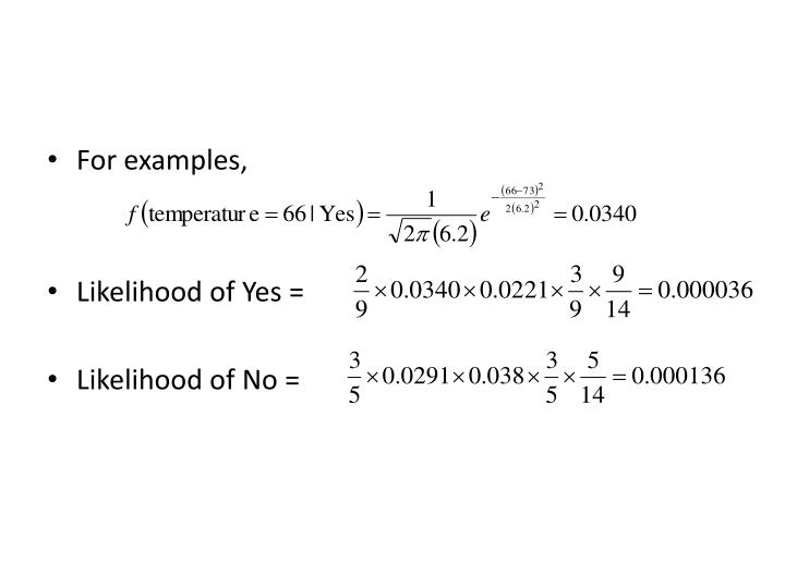 For examples,