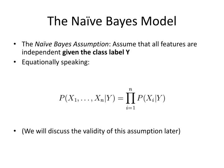 The Naïve Bayes Model