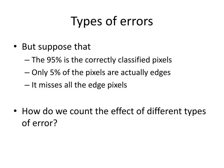 Types of errors