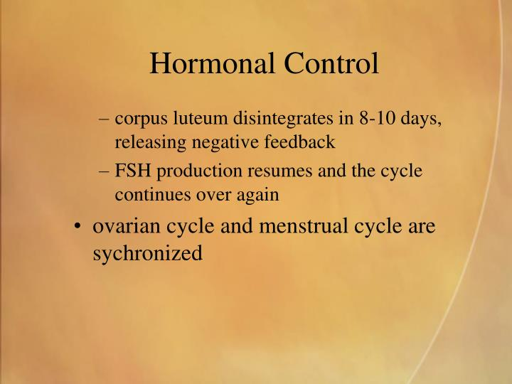 Hormonal Control