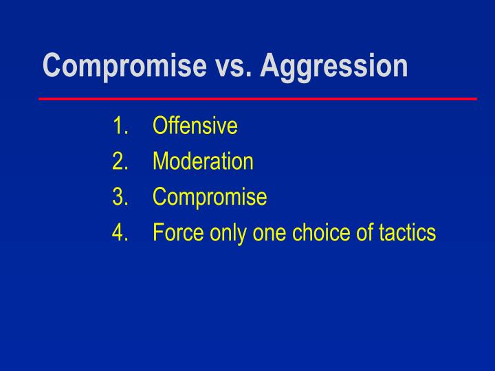 Compromise vs. Aggression