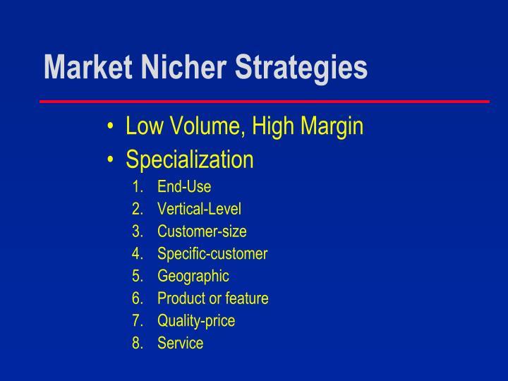 Market Nicher Strategies